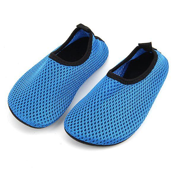 48d2cb910 Unisex Men Women Water Shoes Nylon +Neoprene Mesh Aqua Socks Yoga Exercise  Pool Beach Dance