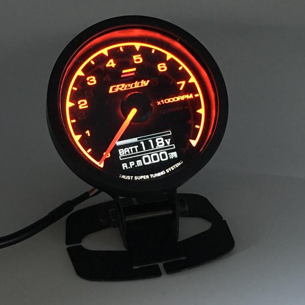 top popular 62mm 2.5 Inch 7 Color in 1 Racing GReddy Multi D A LCD Digital Display RPM Gauge Tachometer Sensor 2021