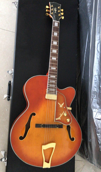 Wholesale New Arrival China Cnbald Jazz Electric Guitar L-5 Model ES Semi Hollow In CS Sunburst 180611