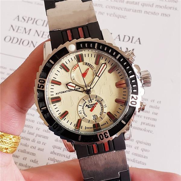 Hot Male Marine Clock Transparent Mens Quartz Wrist watch Rubber Antique Saat Watches 9 Colors Free Shipping