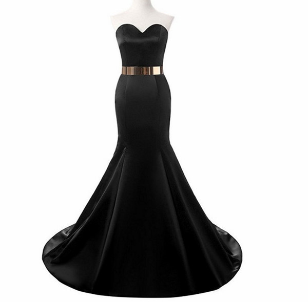 2018 African Black Girl Prom Dresses Sweetheart Gold Beaded Crystal Sweep Train Mermaid Formal Tulle Party Dress Plus Size Evening Gown Wear