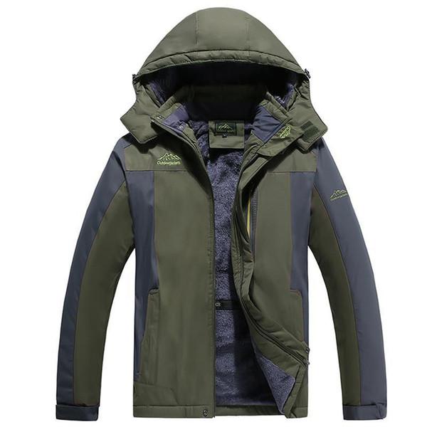 Big Size 10XL 9XL 8XL 7XL 6XL 2018 Mountaineering suit Warm Outwear Winter Jacket Men Windproof Hood Men Jacket Warm Parkas