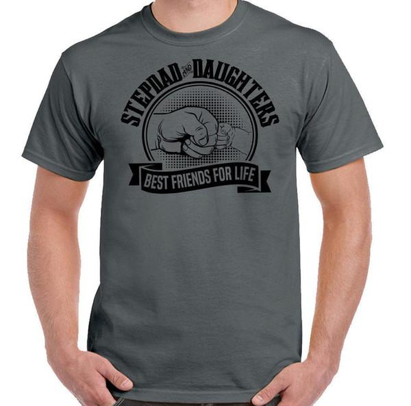 Stepdad Daughters Beste Freunde für das Leben Herren Lustige Vatertag T-Shirt