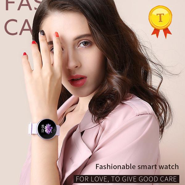 новейшие лучший подарок Леди красочные смарт-браслеты Фитнес Группа браслет сердечного ритма фитнес-трекер браслет для IOS Android
