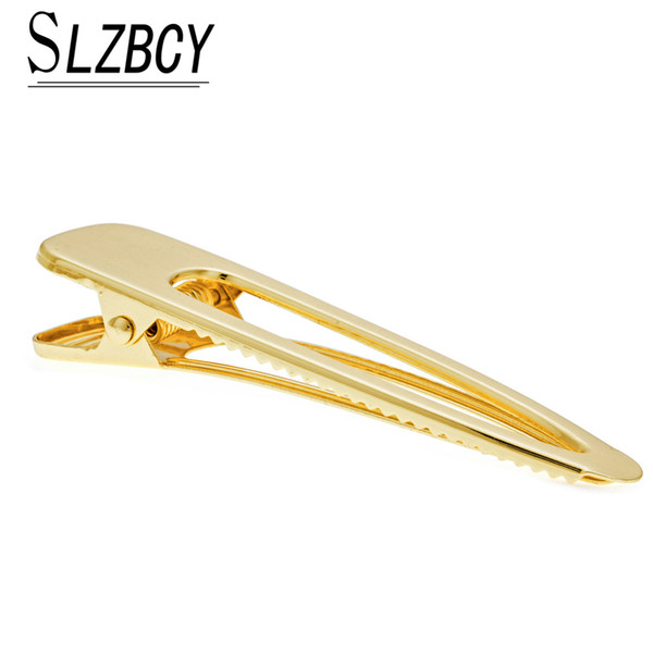 SLZBCY Trendy Gold Color Hairpins Hollow Alloy Hair Clips For Women Prong Alligator Hair Clips Crocodile Barrettes fittings