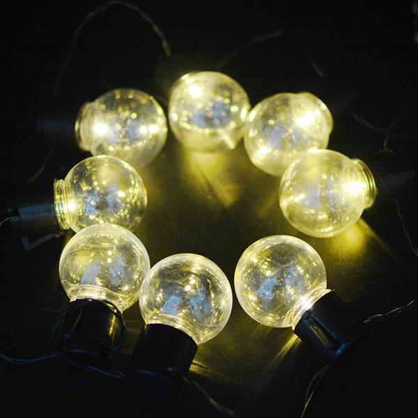 YINGTOUMAN 3.5m 10LED Plastic Bulb Solar Powered LED Lamp Christmas Lights Fairy String Light For Outdoor Garden Decorations