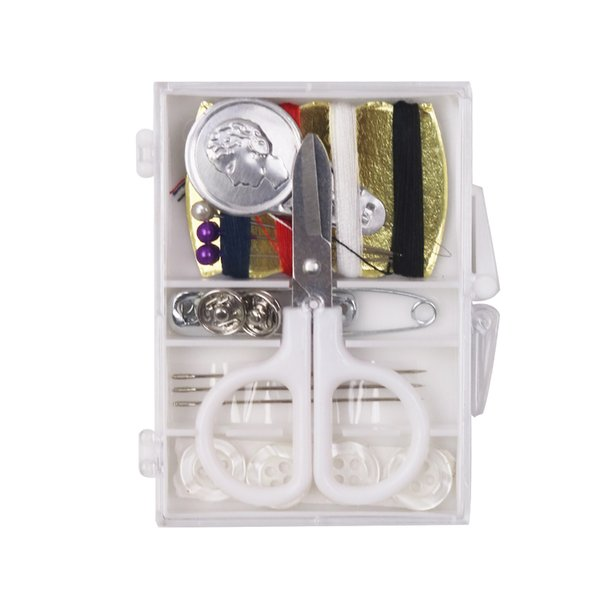 DIY Mini Sewing Box Sewing Thread Stitches Needles Tools Kit Buttons Craft Scissor Travel Kit