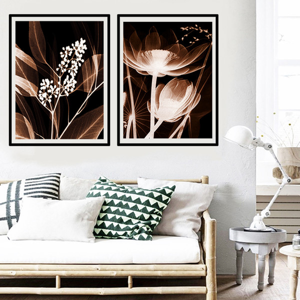 Acheter Svity Home Decor Moderne Toile Peinture Jaune Fleur Affiche Art Mur Sans Cadre Unique Photo Pour Salon Chambre Fa737 De 37 5 Du Blithenice