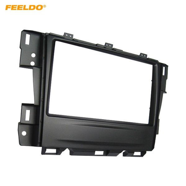 FEELDO Car Duble Din Stereo Fascia Frame For Nissan Teana 2008-2012 Audio Radio Plate Panel Dashboard Mount Trim Kit #5019