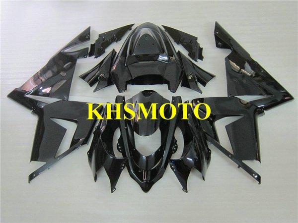 Moldeo por inyección Kit de carenado de motocicleta para KAWASAKI Ninja ZX10R 04 05 ZX 10R 2004 2005 ABS Todo negro brillante Carenados conjunto + regalos KM14