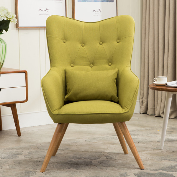 2019 Mid Century Modern Style Armchair Sofa Chair Legs Wooden Linen  Upholstery Living Room Furniture Bedoorm Arm Chair Accent Chair From  Klphlp01, ...