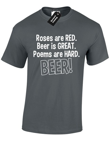 ROSES ARE RED MENS T SHIRT NOVELTY VALENTINE DRINKING PUB PARTY ALCOHOL GIFT NEW Cool Casual pride t shirt