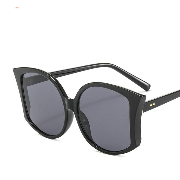 oversized rimless sunglasses men big size 2018 black yellow one lens large windproof red shades for women uv400 NX