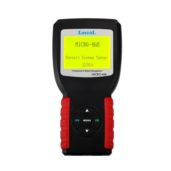 MICRO-468 12V Auto Car Battery Tester Diagnostic Scan Tool Conductance & Electrical System Analyzer For GEL Batteries