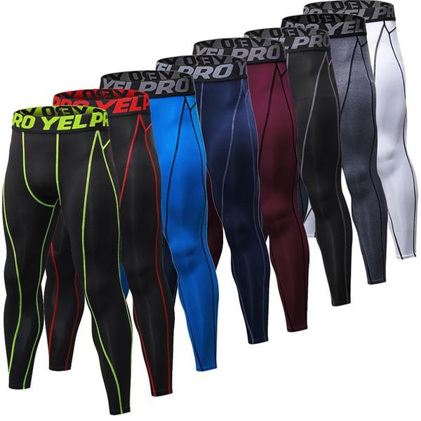 Vente chaude Hommes GYM Compression Bodybuilding Pantalones Hombre Fitness Collants Pantalons Pantalon de survêtement Pour Hommes Sport Running Leggings