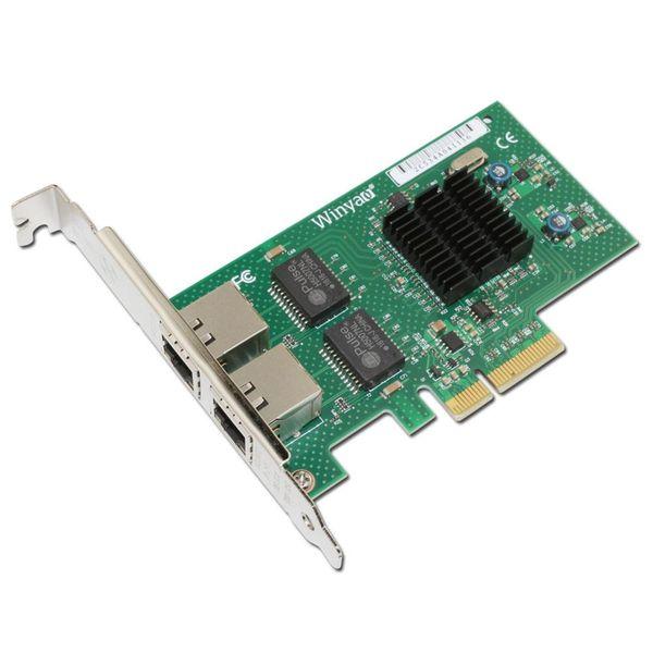WY576T PCIe X4 Dual Port Server Adapter Copper RJ45 Gigabit 1000Mbps Ethernet Network Card For Intel 82576 E1G42ET lan