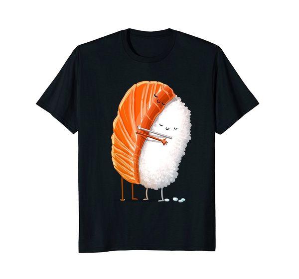 Nouveau Design Hommes Nouveauté Hommes T Shirt De Mode Coton O Cou Hip Hop Sushi Hug Mâle Tee-Shirt À Manches Courtes O - T-shirt