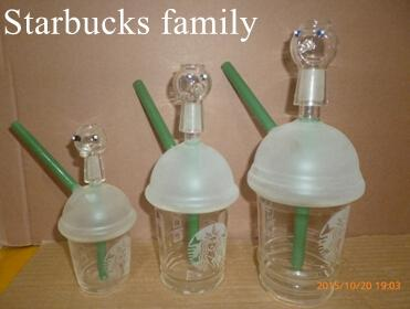 best Starbuck Cup starbucks Glass bong! Glass Oil Rigs Mini Glass water Pipes Dabuccino Style Inspired Starbucks Themed Concentrate Cup Rig