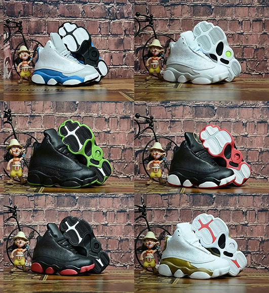 Cool hot sale new Kids 13s shoes Children 13s Basketball shoes High Quality Sports Shoes Youth Sneakers For Sale Size: US11C-3Y EU28-35