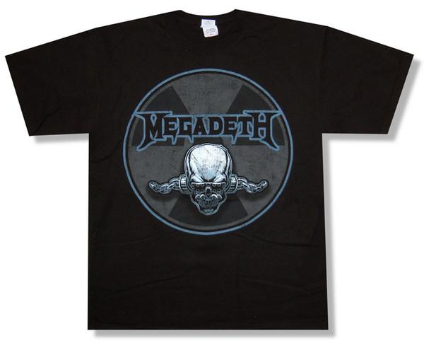 Megadeth Strahlung Schädel 2009 Tour Schwarz T-Shirt Große neue Offizielle T-Shirt Männer Verrückte Kurzarm Baumwolle Benutzerdefinierte 3XL Familie T-Shirts
