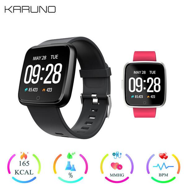 KARUNO Y7 Smart Fitness Bracelet Blood Pressure Oxygen Sport Tracker Watch Waterproof Heart Rate Monitor Wristband For Men Women