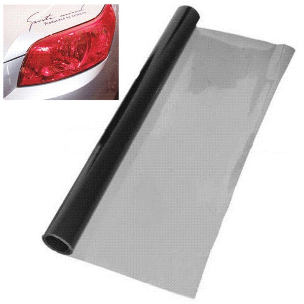 30 x 120cm Car Styling Deep Grey Headlight Sticker Tail Brake Light Tint Vinyl Wrap Film Sheet Cover Sticker Protection