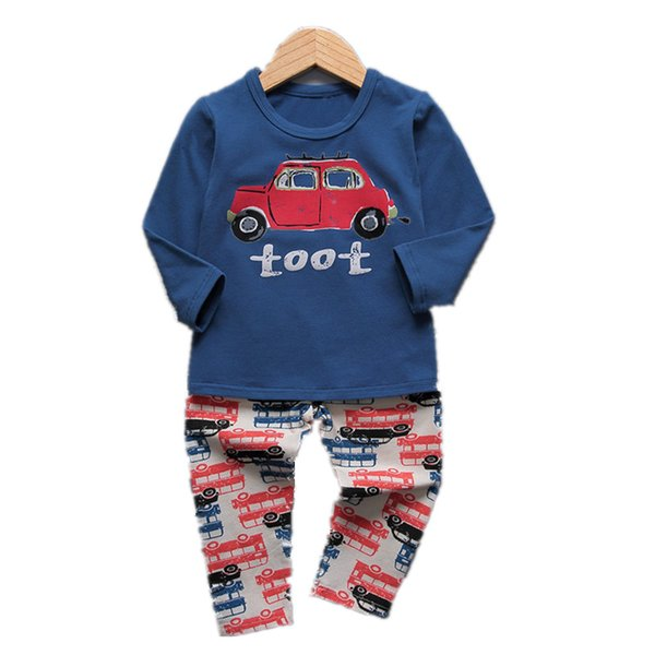 VIDMID 1-9Y boys pajamas clothing sets for boy long sleeve t-shirts pants kids cotton children's underwear set nightgown 4049 01