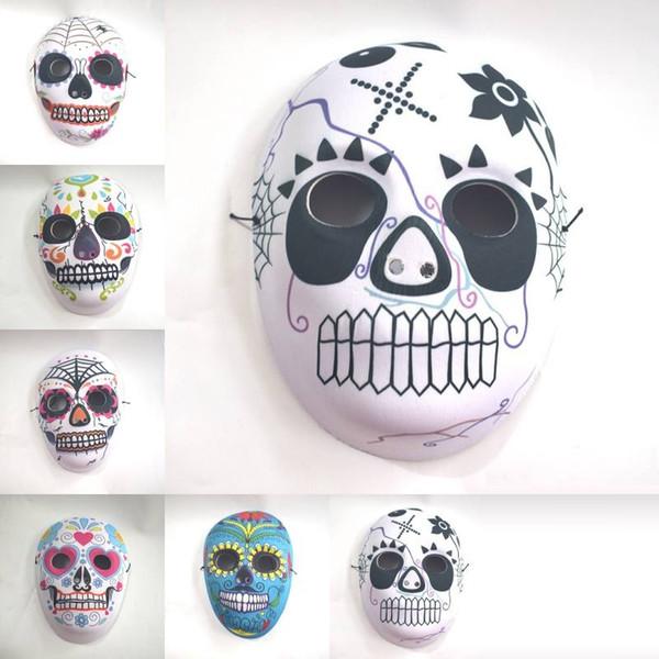 Halloween full face printing mask EVA composite mask party dress props full face men and women models mask