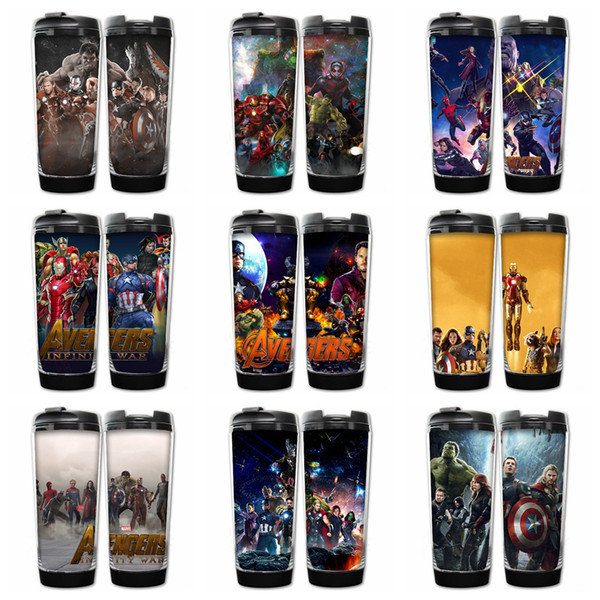 9 Designs Marvel Avengers Infinity War Cups double insulated vacuum cups SuperheroThanos Stainless Steel Kids bottles Hydration Gear AAA442