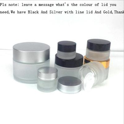 Empty Cosmetic Jar Pots Portable Travel Eyeshadow Face Cream Lotion Cosmetic Container Refillable Bottles Glass Tool