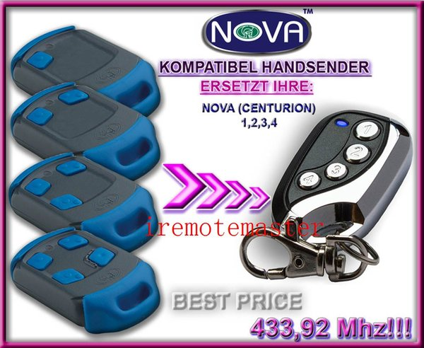 For supply NEW NOVA centurion Blue Gate/Garage Remote Control Replacement free shipping
