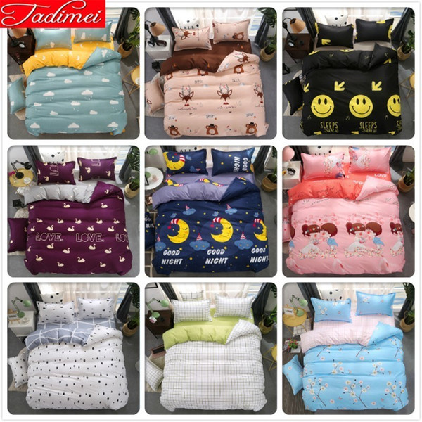 High Quality Soft Cotton 3/4 pcs Bedding Set Kids Child Boy Girl Bed Linens Single Twin Full Size 150x200 Duvet Cover Bedspreads