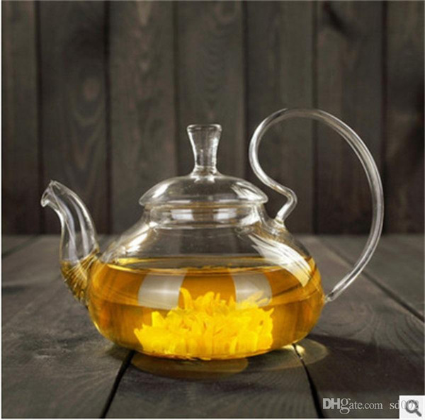 600ml High Handle Tea Pot Glass Transparent Filter Scented Household Heat Resisting Food Grade Brew Teapot Hot Sale 13xy ii