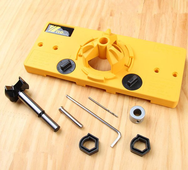 35mm Cup Style Hinge Drilling Guide Woodworking Hole Locator Jig Drill Guide For Kreg Carpenter Woodworking DIY Tools