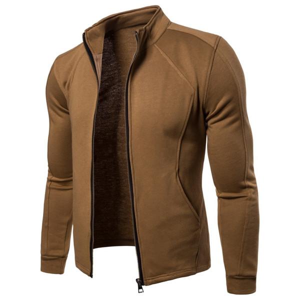 Fashion Men Jacket Spring Autumn Male Stand Collar Zipper Sweatshirt Coat Sportswear Bomber Jacket Baseball Outerwear