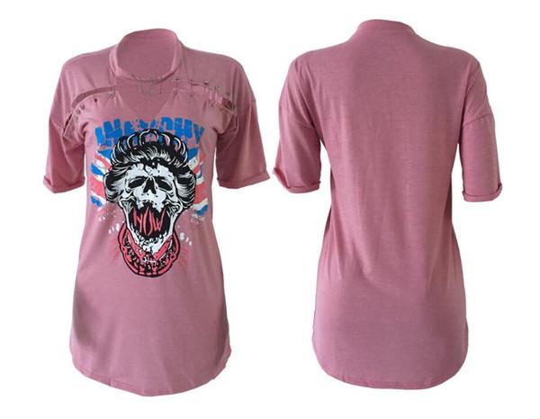 2017 pink Women Clothes Fashion High-quality Dresses Offset print skulls head pin street style cotton dress 3 colors, noah shark skirt