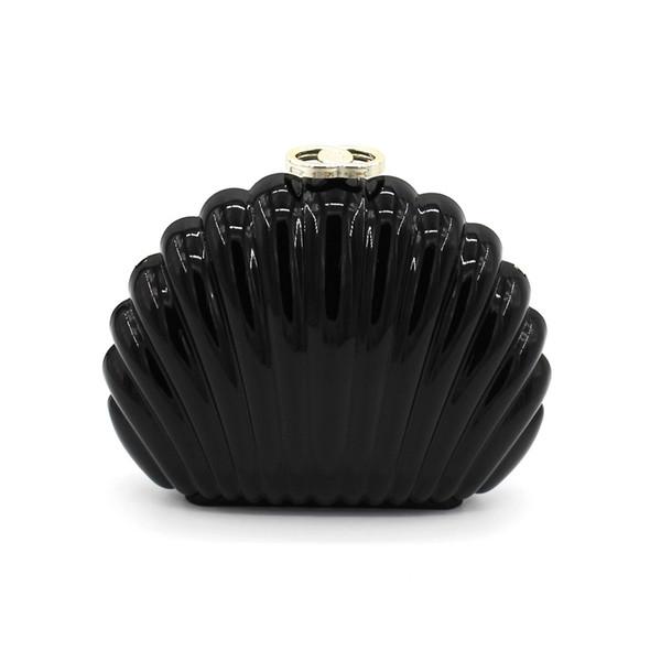 Spezielle Design Frauen Shell Form ABS Acryl Clutch Handtaschen Geldbörse Harte Abend Cocktail Prom Schulter Messenger Clutches Tasche
