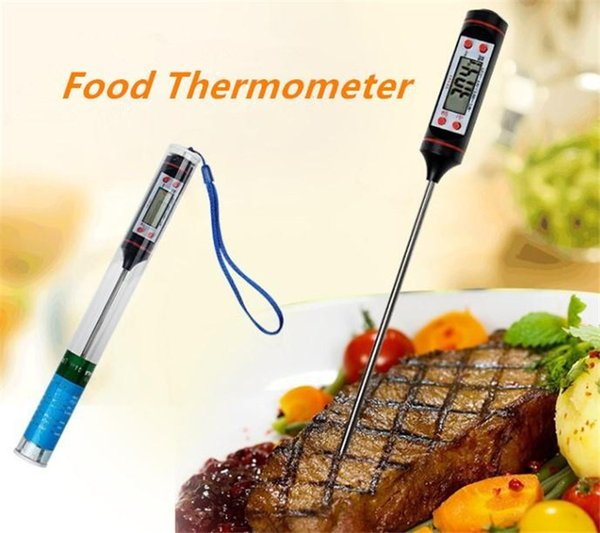 New Household Food Grade Digital Cooking Food Probe Meat Kitchen BBQ Selectable Sensor Thermometer Portable Digital Cooking Thermometer