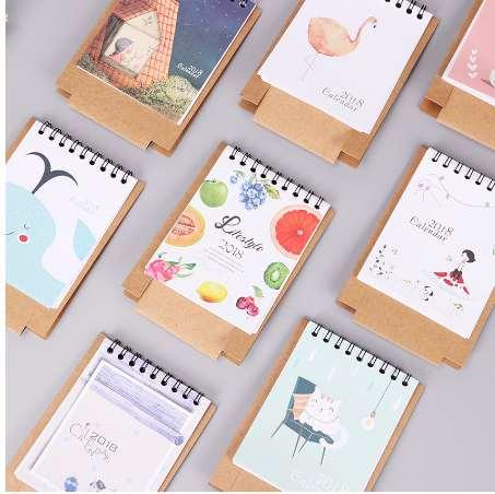 best selling Animals Series Calendars Plan Notebook Cute Mini Office Cat Dog Desk Paper Calendar Gift Daily Plan Table Manage the