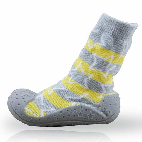 Neonati calzini antiscivolo per bambini con suole in gomma per bambini Scarpe per bambini primi calze in cotone per bambini