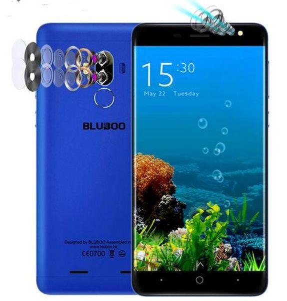 Original BLUBOO D1 Mobile Phone Quad Camera lens MTK6580A Quad Core 2G RAM 16G ROM Android 7.0 Fingerprint 8.0MP Cell phones