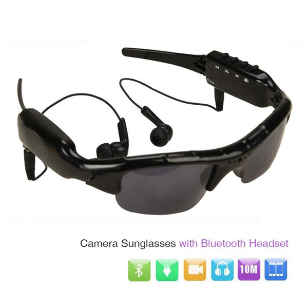 ET HD 1080P Camera Mini DV DVR Camcorder Sunglasses Video Recorder w/ Bluetooth Headphones Stero Music Player Mini Camera Glass