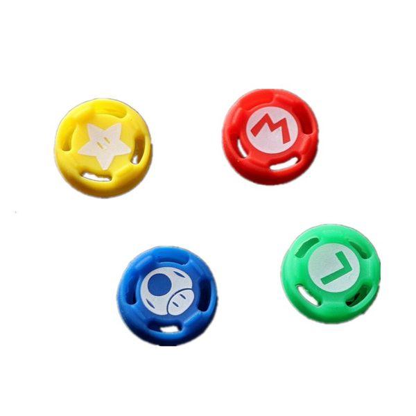 heißer verkauf 4 In1 Thumb Stick Caps für Nintend Schalter Controller Thumbstick Griffe Abdeckung für Nintend Schalter Joystick Cap Daumengriff Set Blau
