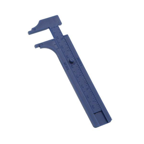Plastic Ruler Sliding Gauge Vernier Caliper Jewelry Measuring Inch Cm 8cm/10cm