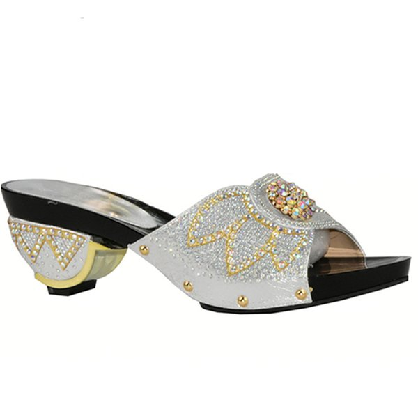 New Arrival Africa Women's Wedding Shoes Italian Woman Shoes for Party Luxury Sandals Women Rhinestone Wedding Shoes