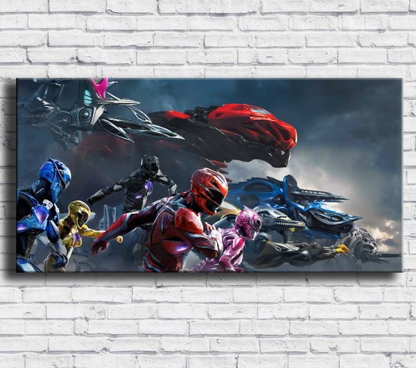 Power Rangers,1Pieces Home Decor HD Printed Modern Art Painting on Canvas (Unframed/Framed)