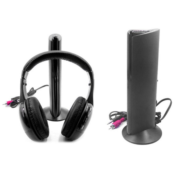 Wireless Earphone Headphone for MP3 PC Cordless Headset for MP3 PC Stereo TV Radio 5 in 1 Hot Sale