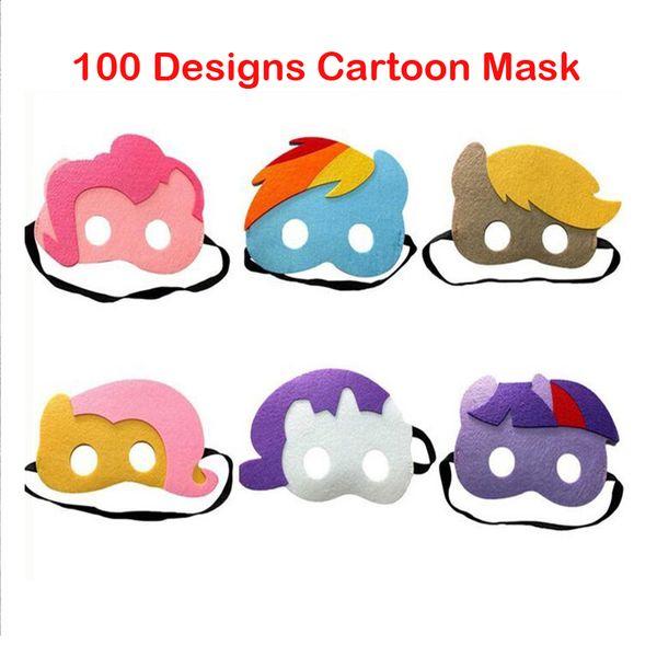 100 styles New Design Children superhero mask Halloween Cosplay Masks Cartoon Felt Mask Costume Party Masquerade Mask Christmas Gift Masks