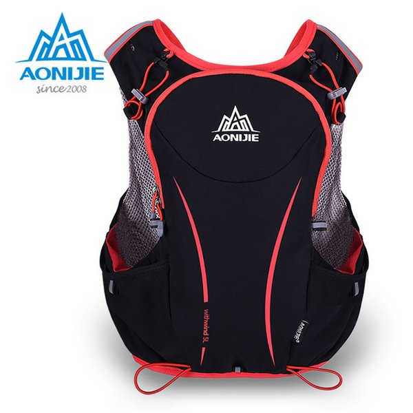 AONIJIE sport bag Outdoor Sports Backpack Women / Men Marathon Hydration Vest Pack for Exchange Cycling Hiking Water Bag