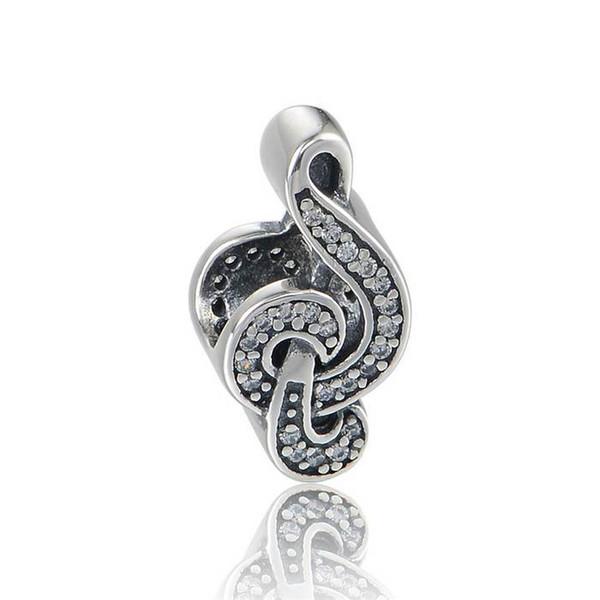 5 teile / los Süße Musik charms S925 sterling silber passt pandora stil armbänder musical hinweis H9